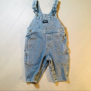 Osh Kosh Blue and White Striped Overalls